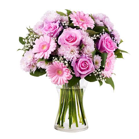 Ramo rosas gerberas gypsophila especial