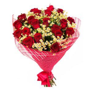 Buquet 18 rosas rojas