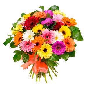 Buquet gerberas arcoiris