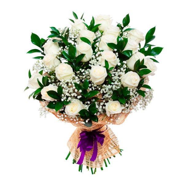 Buqet 12 rosas blancas